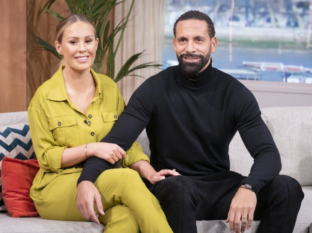 Editorial use only Mandatory Credit: Photo by Ken McKay/ITV/REX (10552839be) Rio Ferdinand and Kate Ferdinand 'This Morning' TV show, London, UK - 10 Feb 2020 KATE AND RIO FERDINAND: BECOMING A STEP FAMILY He opened up about his battle with grief, in BAFTA-award winning documentary, 'Rio Ferdinand: Being Mum and Dad'. And, three years on - Rio, along with his wife, Kate are letting the cameras in once again - this time, to highlight the ups and downs of becoming a step-family. And, ahead of its release tonight, we?re joined by Kate and Rio, as they open up about why they felt ?compelled? to tell more of their story.