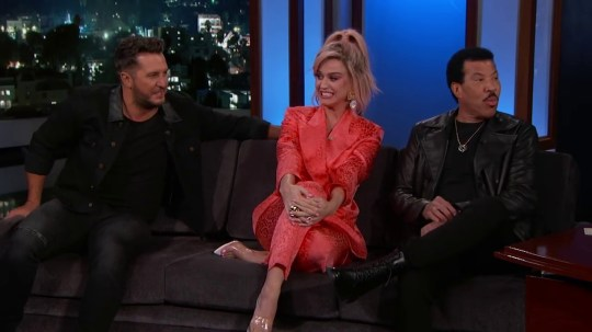 Katy Perry Luke Bryan and Lionel Richie