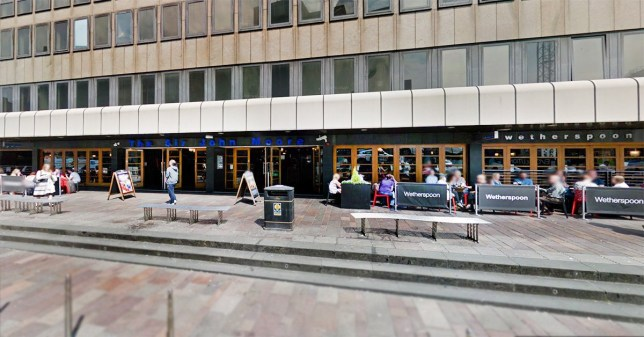Terror police called after drunk man's reaction to being woken up when he fell asleep at pub A drunk punter who fell asleep in a pub sparked fears for 'terrorist incident' after kicking off when he was woken up - with 30 cops sent out to deal with him. The man, aged 39, dozed off at a table in a JD Wetherspoon pub in Glasgow - but when he was asked to leave, he reacted so aggressively that a panic button was pressed. Picture: Google Maps METROGRAB