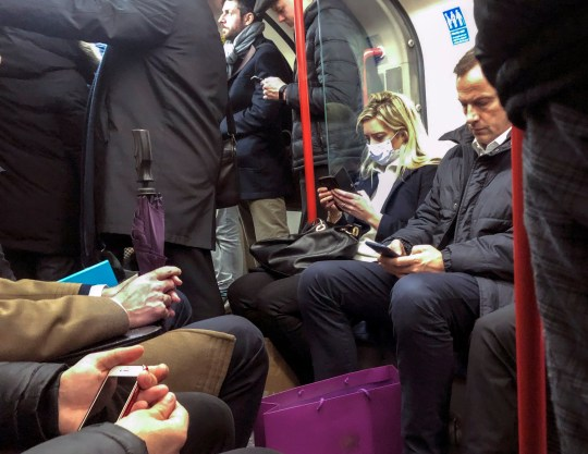 ? Jeff Moore A commuter on the Underground in Central London today with a medical mask. in the past few weeks since the outbreak of the coronavirus in China
