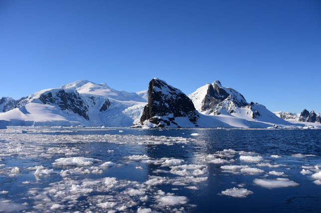 (FILES) In this file photo taken on November 27, 2019, view of Orne Harbour in South Shetland Islands, Antarctica. - Brazilian scientists registered Antarctic temperature above 20C for first time on record at Seymour Island on February 9, 2020. (Photo by Johan ORDONEZ / AFP) (Photo by JOHAN ORDONEZ/AFP via Getty Images)