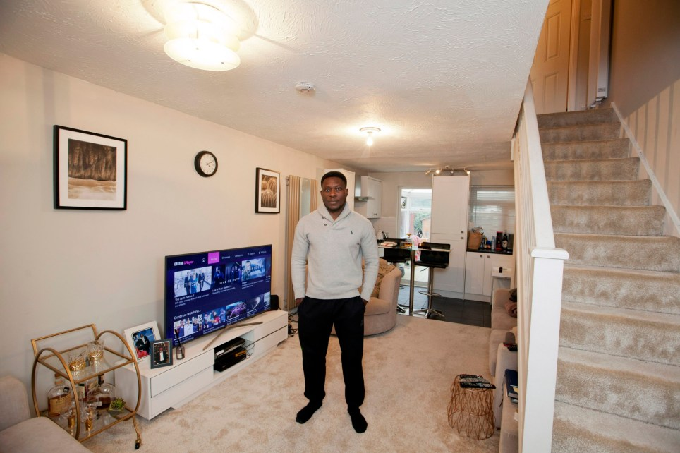 What I Own.... Lanre Bakare in his home in Uxbridge ?? photograph by David Sandison