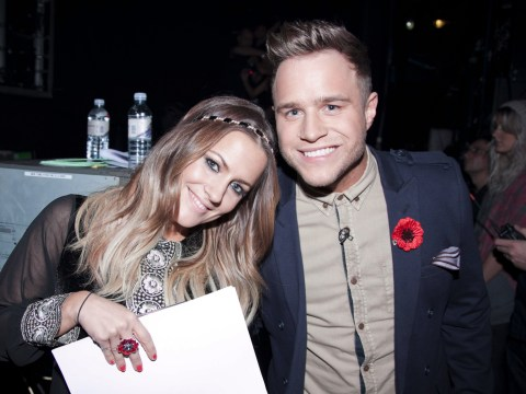 Olly Murs in bits after watching old clips of his hilarious X Factor entrances with Caroline Flack