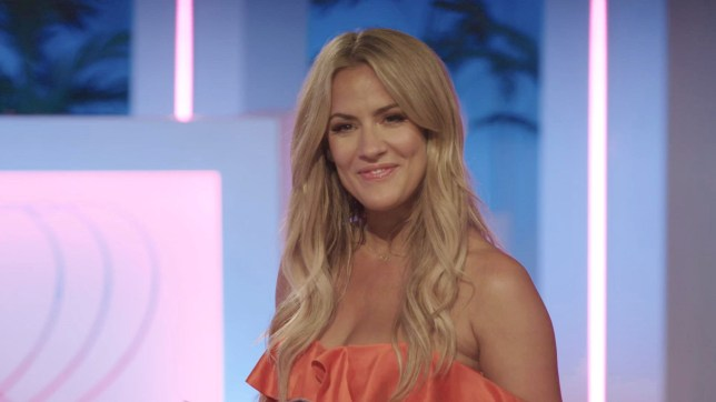 Editorial Use Only. No Merchandising. No Commercial Use. Mandatory Credit: Photo by ITV/REX (10334130u) Caroline Flack. 'Love Island' TV Show, Series 5, Episode 36, Majorca, Spain - 14 Jul 2019 *The Islanders Choose Who to Snog, Marry and Pie *Belle is Annoyed at Anton's Comedy of Errors *Curtis Needs to Make His Mind Up Between Maura and Francesca *the Islanders Head Out to the 'Island Club' for a Night of Partying and Drama!