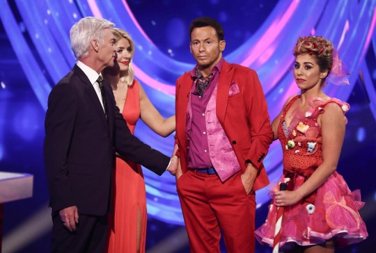 Editorial use only Mandatory Credit: Photo by Matt Frost/ITV/REX (10558259w) Joe Swash and Alexandra Schauman with Phillip Schofield and Holly Willoughby 'Dancing On Ice' TV show, Series 12, Episode 7, Hertfordshire, UK - 16 Feb 2020