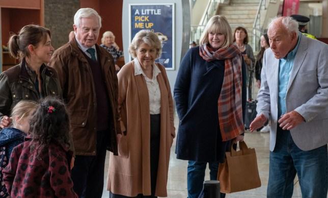 Programme Name: Last Tango In Halifax Series 5 - TX: n/a - Episode: n/a (No. n/a) - Picture Shows: Gillian (NICOLA WALKER), Alan (DEREK JACOBI), Celia (ANNE REID), Caroline (SARAH LANCASHIRE), Ted Buttershaw (TIMOTHY WEST) - (C) Lookout Point - Photographer: Matt Squire