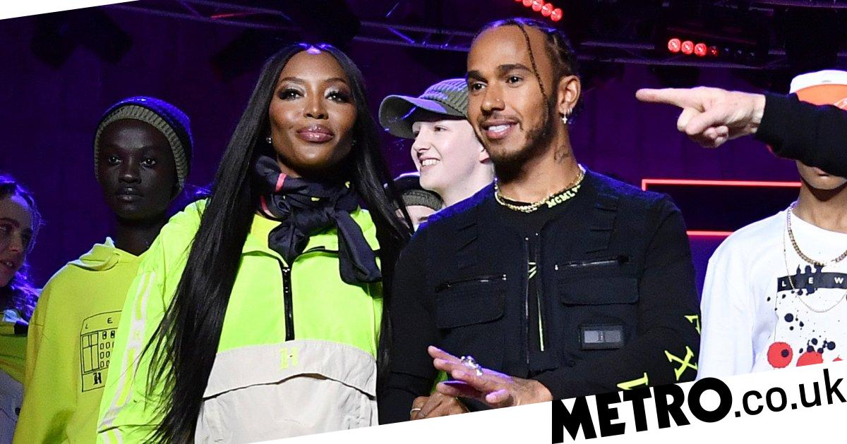 Naomi Campbell joined by Lewis Hamilton for Tommy Hilfiger fashion show