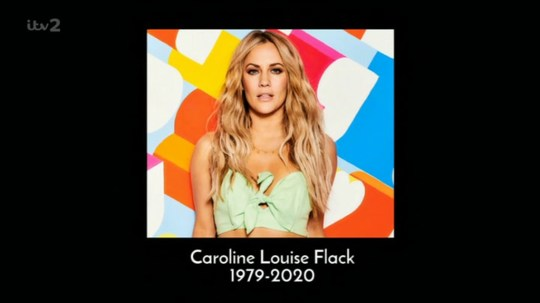Caroline Flack remembered by Love Island in heartbreaking and poignant tribute by Iain Stirling