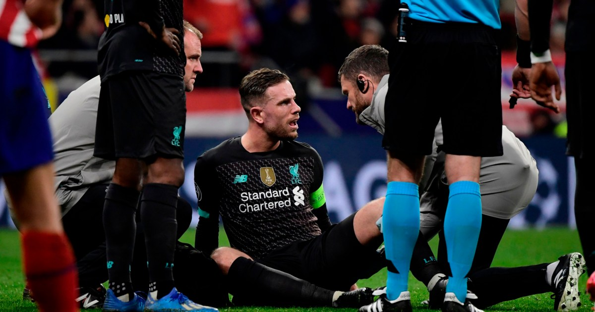 Jurgen Klopp gives update on Jordan Henderson after injury in Atletico Madrid defeat