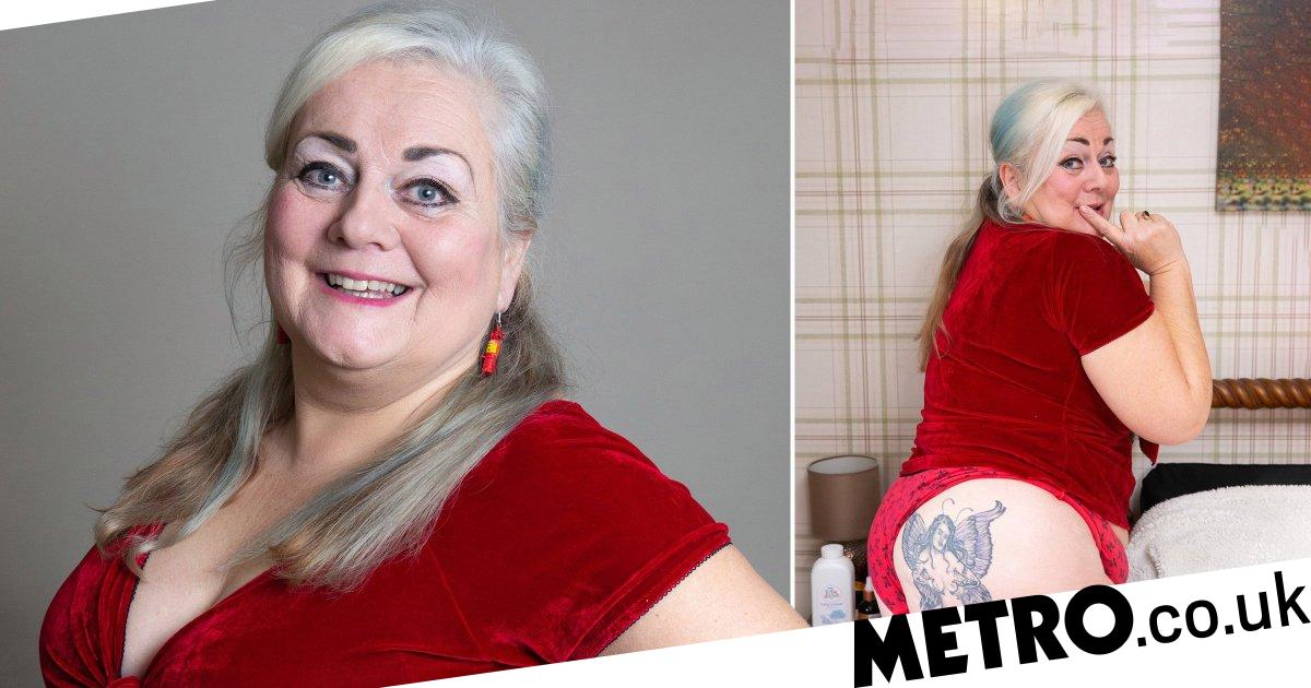 Grandma gets angel tattooed on her bum to celebrate her sex life