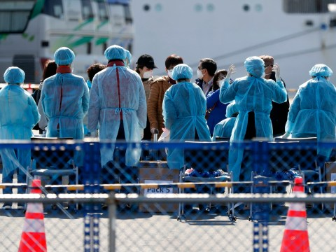 Brits prepare to board evacuation flight after being freed from quarantine cruise ship