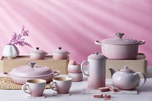 new Le Creuset ombre pink collection