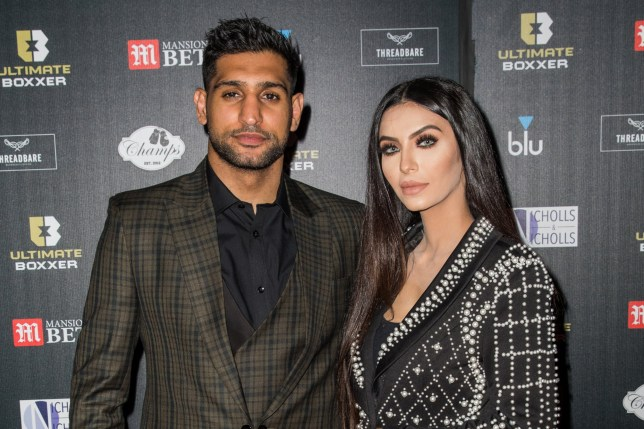 LONDON, UNITED KINGDOM - 2019/09/20: Amir Khan and Faryal Makhdoom attend the Ultimate Boxxer 5 at Indigo at The O2 in London. (Photo by Phil Lewis/SOPA Images/LightRocket via Getty Images)