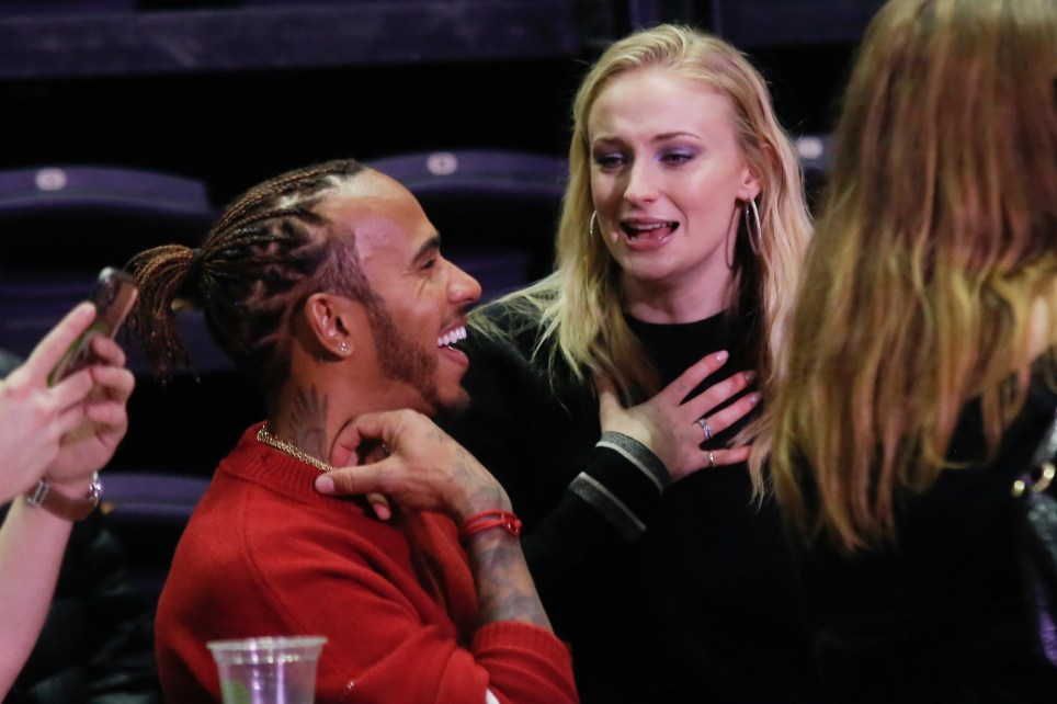 Sophie Turner Lewis Hamilton attending The Jonas Brothers concert at the Accor Hotels Arena in Paris on Sophie's birthday. 22 Feb 2020 Pictured: Sophie Turner Lewis Hamilton. Photo credit: Spread Pictures / MEGA TheMegaAgency.com +1 888 505 6342