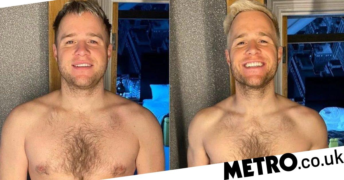 Olly Murs 'buzzing' as he strips down to show off impressive body transformation