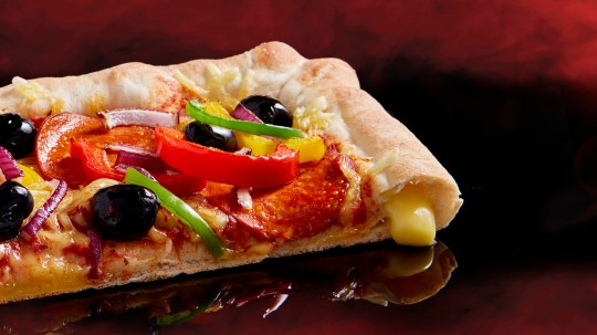 Vegan stuffed crust at Pizza Hut