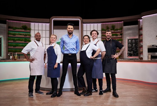 Rylan Clark-Neal and the chefs of Ready Steady Cook