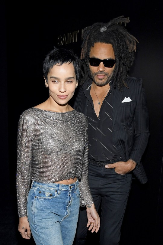 Zoe Kravitz and father Lenny style out Paris Fashion Week