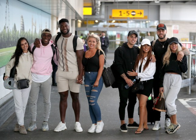 Love Island contestants arrive at Heathrow Airport in London