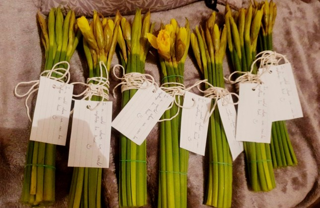 Kind hearted Oliver Allen's flower giveaway.