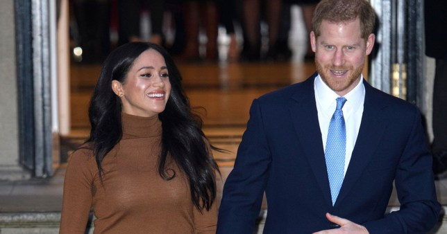 Mandatory Credit: Photo by Tim Rooke/REX/Shutterstock (10519805cd) Meghan Duchess of Sussex and Prince Harry Prince Harry and Meghan Duchess of Sussex visit to Canada House, London, UK - 07 Jan 2020 Their Royal Highnesses wanted to meet with HE. Ms. Janice Charette, High Commissioner in Canada to the UK as well as staff to thank them for the warm Canadian hospitality and support they received during their recent stay in Canada. Following their meeting with the High Commissioner, Their Royal Highnesses will visit the Canada Gallery and view a special exhibition by Indigenous Canadian artist, Skawennati. The Duke and Duchess of Sussex will also meet different members of the High Commission team who work in a range of sectors supporting the partnership between Canada and the UK. The Duke and Duchess of Sussex last visited Canada House on Commonwealth Day in March 2019 where they met and spoke with young Canadians from a wide range of sectors including fashion, the arts, and business and academia, about their experiences as expats as well as opportunities for young people working in the Commonwealth.