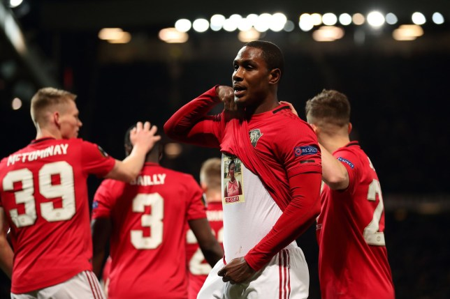 Odion Ighalo scored his first goal for Manchester United against Club Brugge (Picture: Getty)