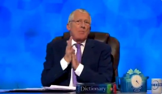 METROGRAB Bizarre intro to Countdown Provider: Channel 4 Nick Hewer