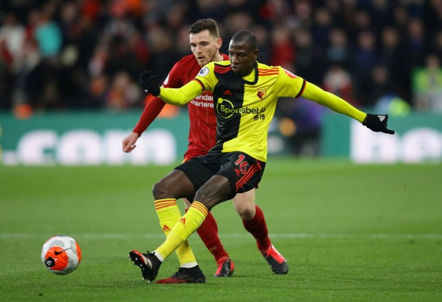 Abdoulaye Doucoure starred in Watford's surprise win over Liverpool