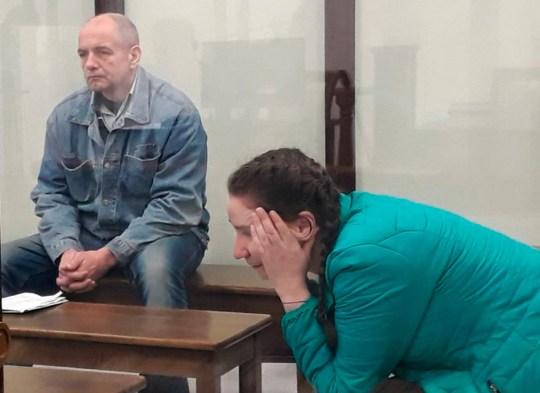 Natalya Kolb and her accomplice Viktar Syarhel in court