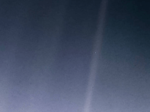 Nasa releases new 'Pale Blue Dot' photo showing Earth against the vastness of space