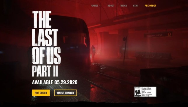 The Last Of Us Part 2 website