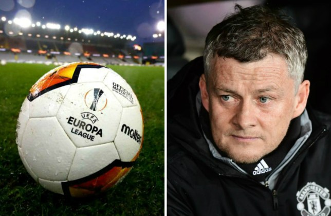 Man Utd's Ole Gunnar Solskjaer and Europa League ball