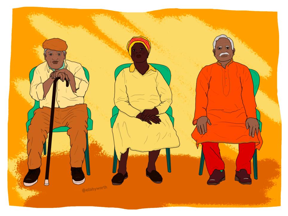 Illustration of elderly ethnic minorities