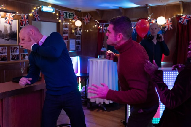 Jack punches Max in EastEnders