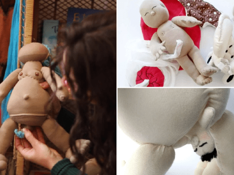 Doula creates childbirth dolls to teach siblings about the realities of birth