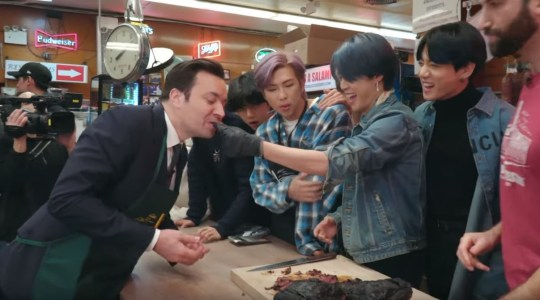 BTS and Jimmy Fallon
