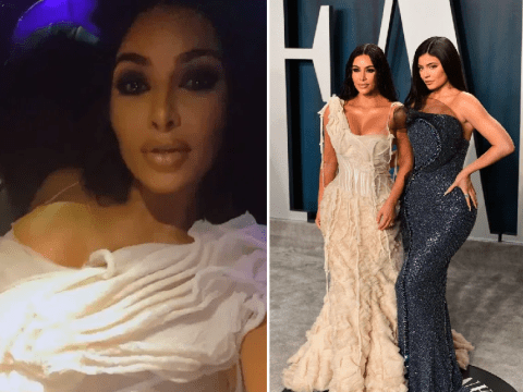 Kim Kardashian and Kylie Jenner killed it at Oscars Vanity Fair party but couldn't sit down