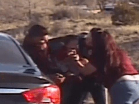 Moment hero cop saves choking toddler as stricken mother looks on
