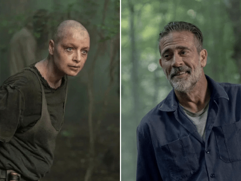 The Walking Dead fans squirm as Alpha refuses to take off Whisperers mask in disturbing Negan sex scene