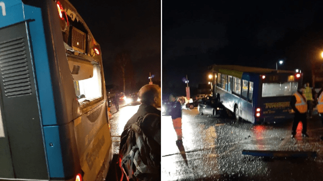 Bus crashes into bus in Lingfield, Surrey