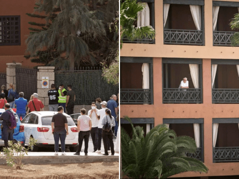 Family at Tenerife coronavirus hotel 'pushed back inside' during escape attempt