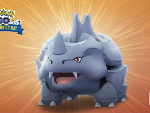 When is the next Pokémon Go Community Day where Shiny Rhyhorn will make its debut?