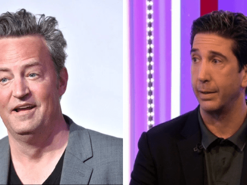 David Schwimmer dodges Friends reunion question by asking: 'Maybe Matthew Perry is pregnant?'