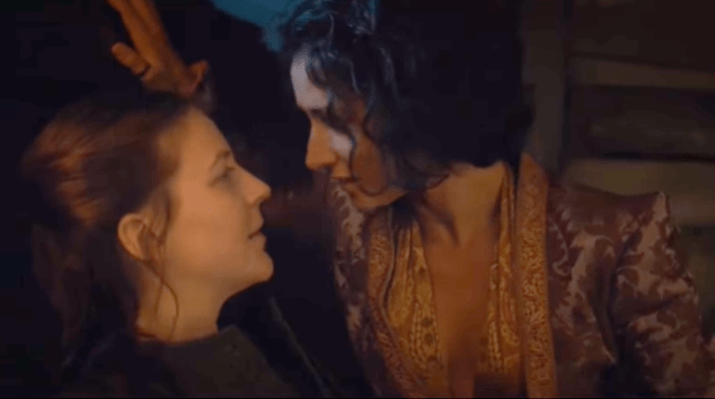 Game Of Thrones Yara and Ellaria kiss