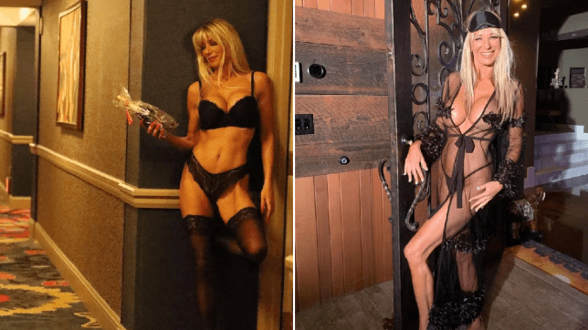 54-year-old showing off her hot body