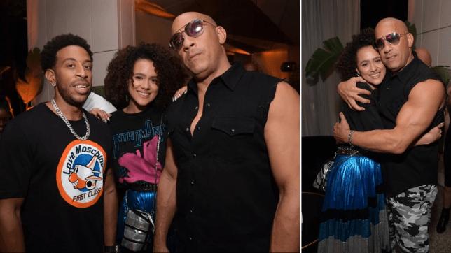 Ludacris, Nathalie Emmanuel and Vin Diesel