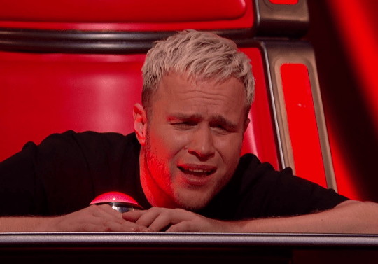 Olly Murs looked gutted