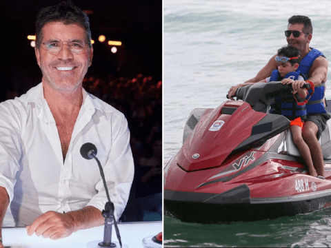 Simon Cowell so fearful of coronavirus he's making son Eric wear surgical mask to Disneyland