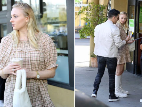 Sophie Turner finds the cutest bag to cover her stomach amid pregnancy rumours