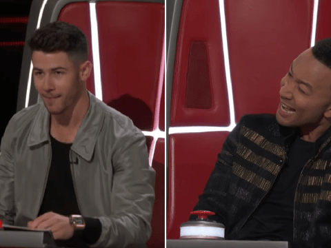Nick Jonas clashes with John Legend as he debuts as The Voice coach
